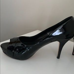 White House Black Market black patent pumps